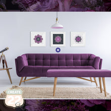 Load image into Gallery viewer, Purple Grey Retro Flower Mandala - Coco Picture Frame