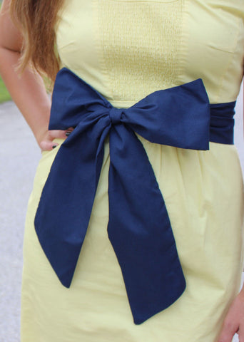 Navy Blue Gameday Bow