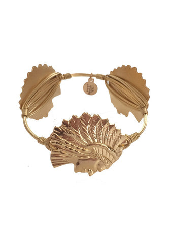 Bourbon & Boweties Micanopy Indian Head Bangle - GOLD - elle & k boutique