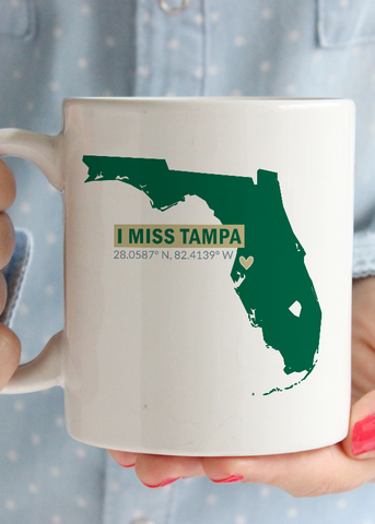 I Miss Tampa USF Coffee Mug