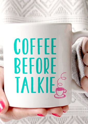 Coffee Before Talkie Mug - elle & k boutique