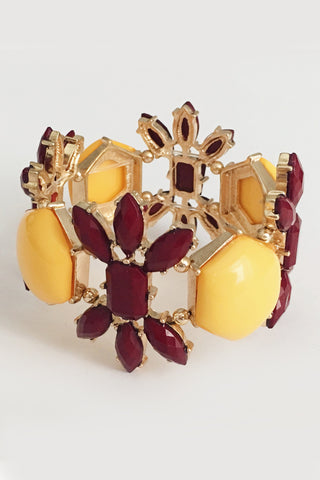 Gameday Glam Bracelet - Garnet & Gold