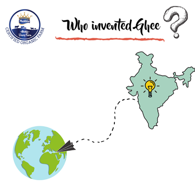 Who invented ghee?