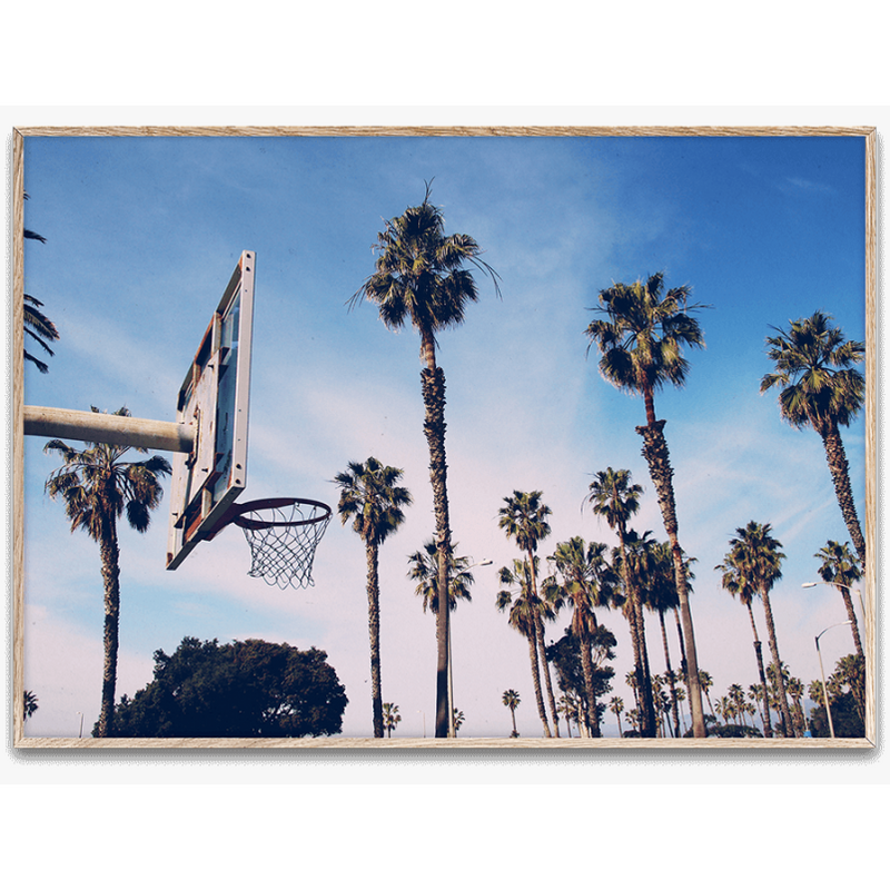 Cities of Basketball 02 (LA) By Kasper Nyman - Black Frame