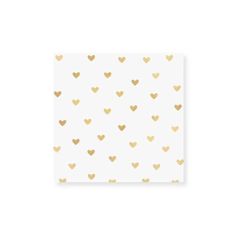 Small Match Box: Heart Gold Foil