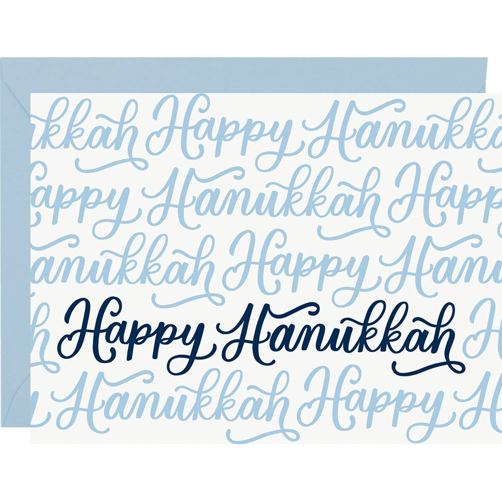 Alice Blue Happy Hanukkah Script A2