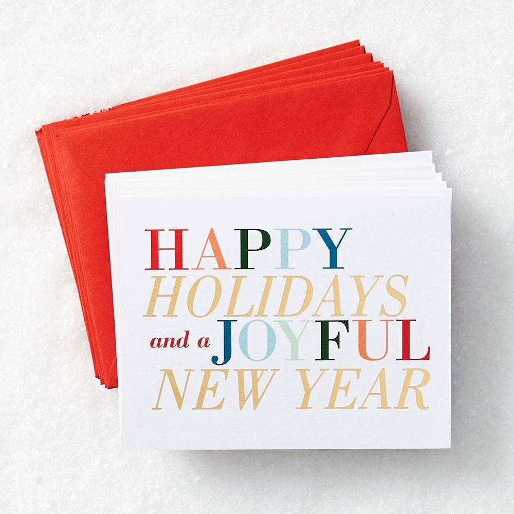 Firebrick Holiday New Year Colorful Type A2 Stationery S/10
