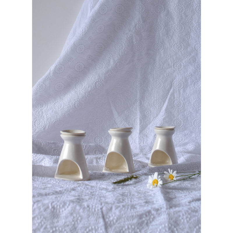 Essential Oil Burner - White