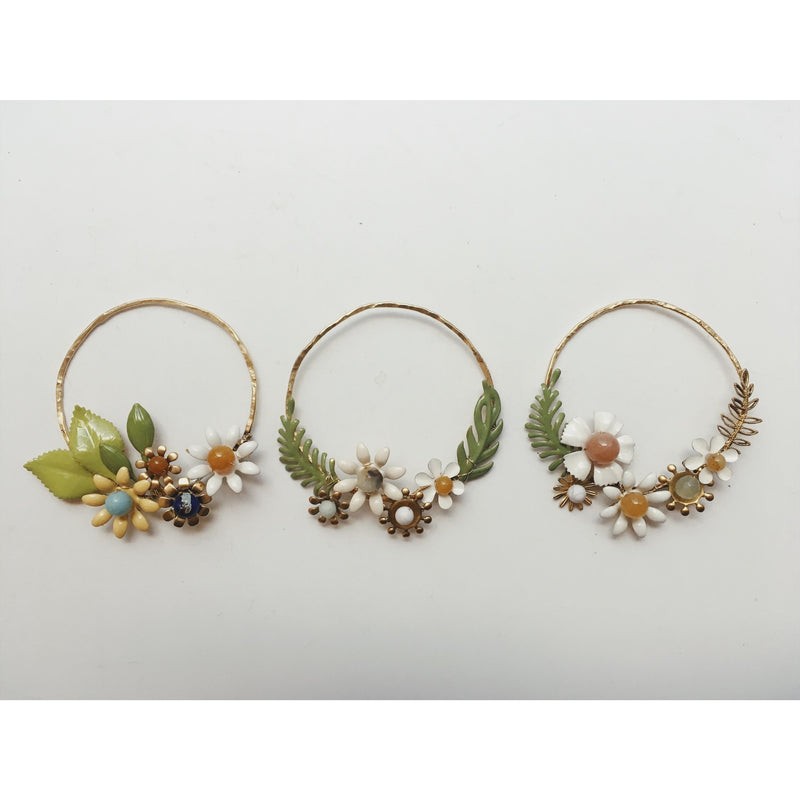 Brass Flower Hoop