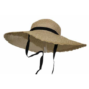 Straw Hat with Tie