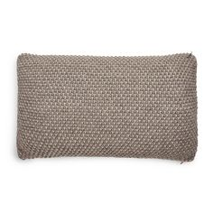 small brown pearl-knitted pillow by designer aiayu