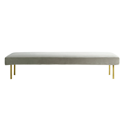 Velvet Daybed with Brass Legs
