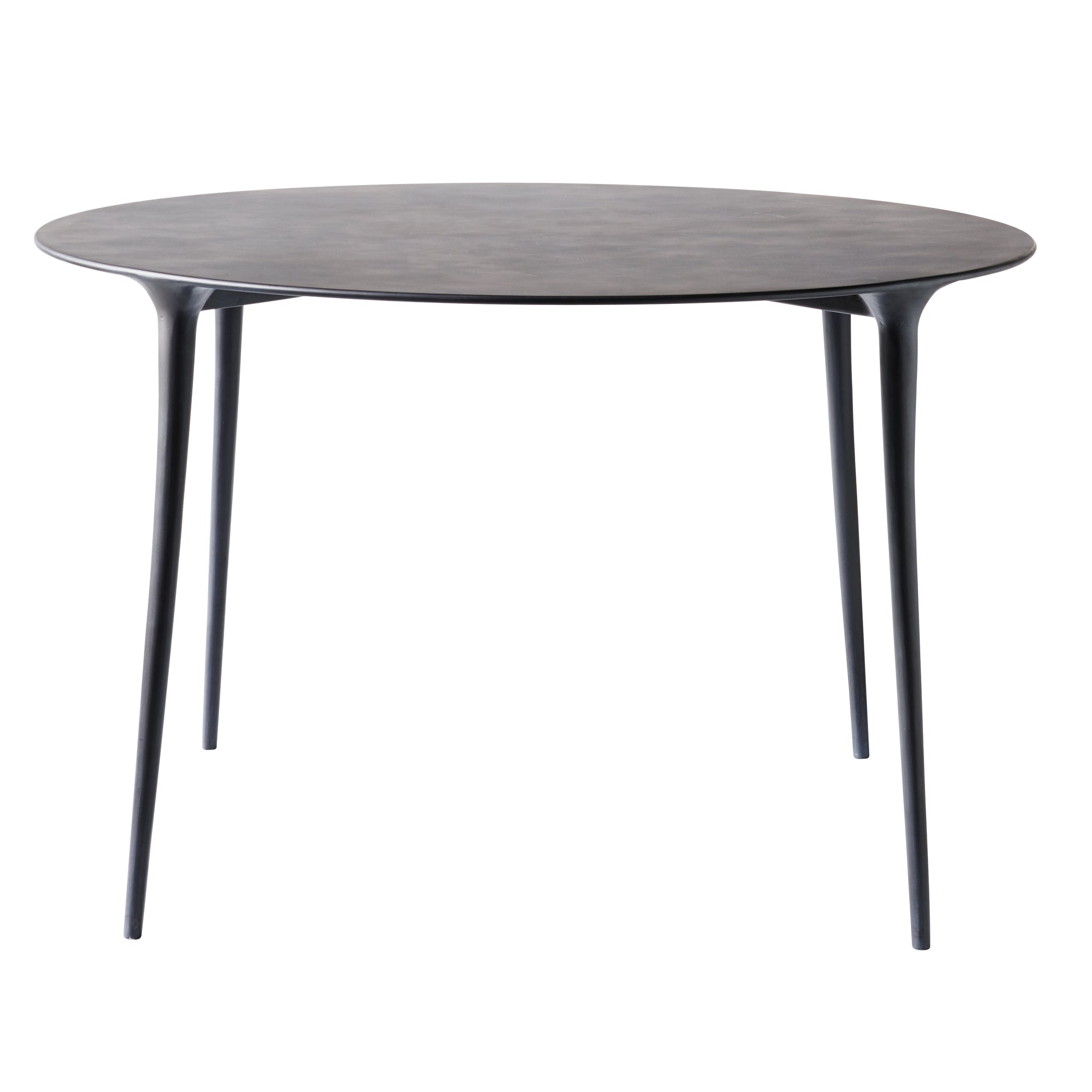 Dark Gray Feel Round Aluminum Table 48""