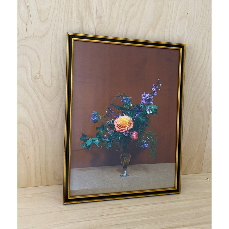 Blomst 08 By Uffe Buchard - Gold & Black Frame