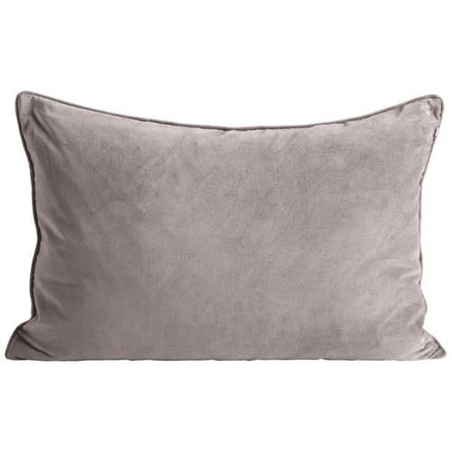 rectangular light grey velvet pillow by designer aiayu
