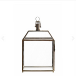 small glass house shaped lantern by designer tine k