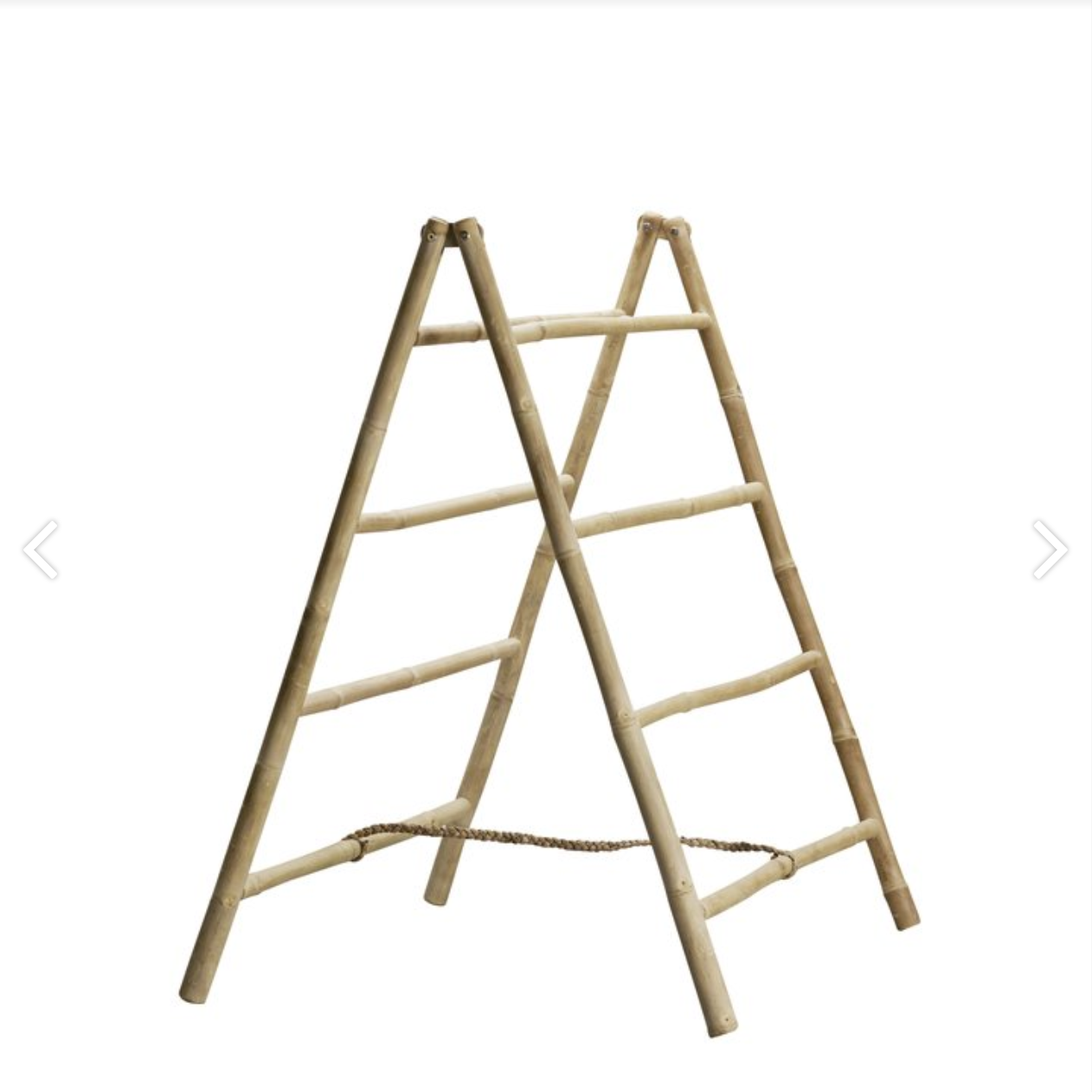 short and wide bamboo folding ladder