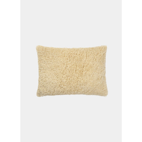 small rectangular cashmere pillow in light yellow color by designer aiayu