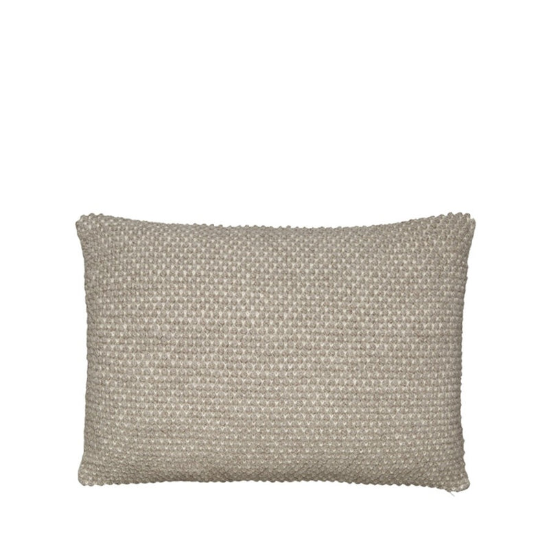 small light tan pearl-knitted pillow by designer aiayu