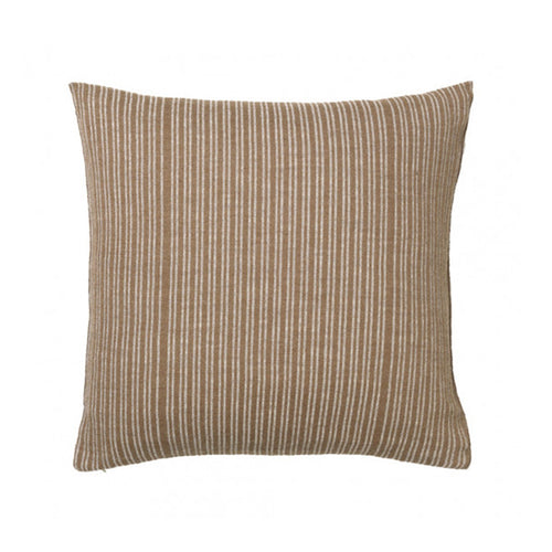 square brown and white striped pillow by designer aiayu
