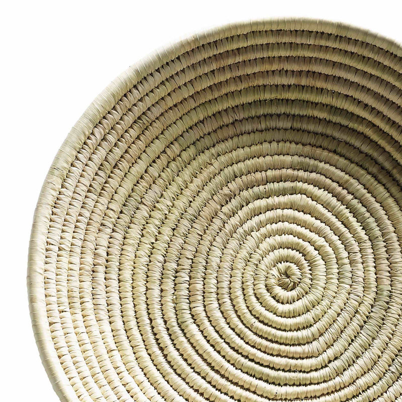 wide and low woven basket
