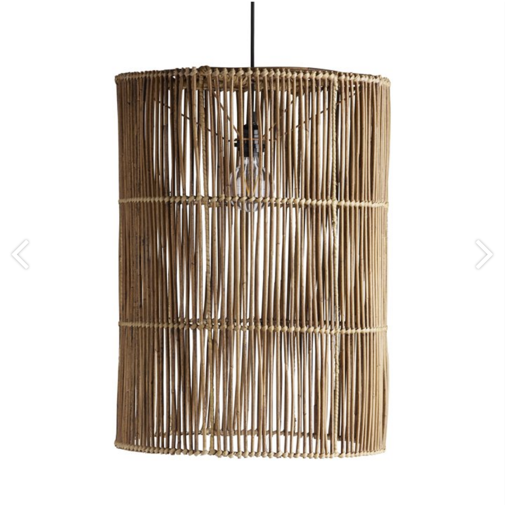 extra large cylindrical rattan lampshade by designer tine k