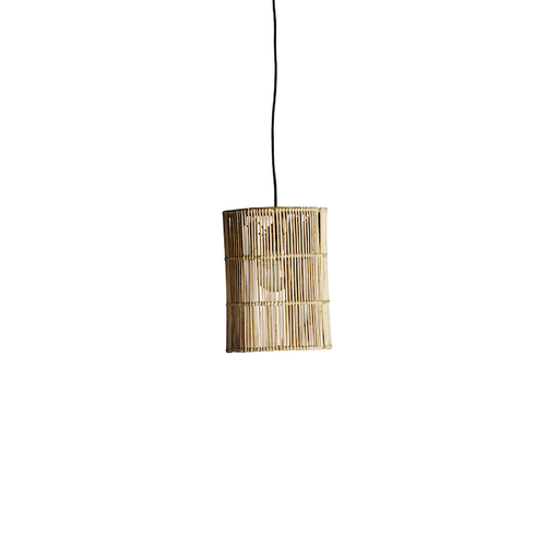 rattan tube lampshade by designer tine k home