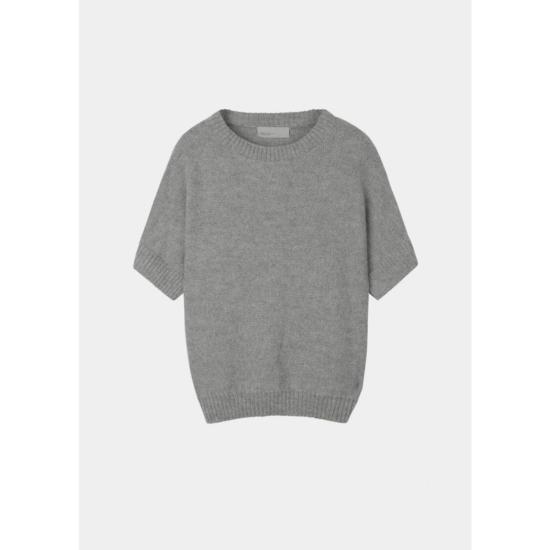 grey short sleeve sweater by designer aiayu