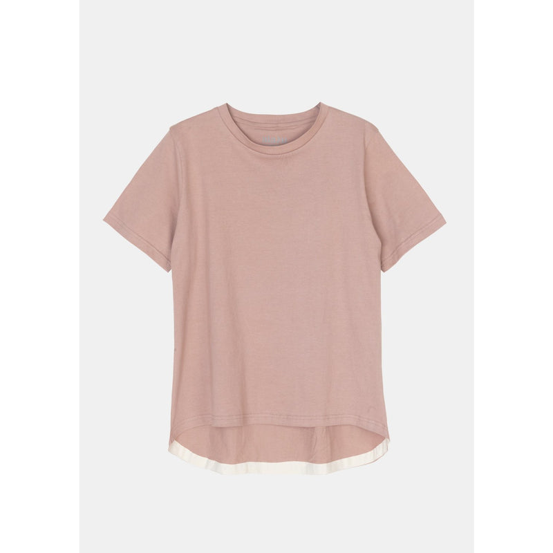 boxy organic cotton blush tee by designer aiayu