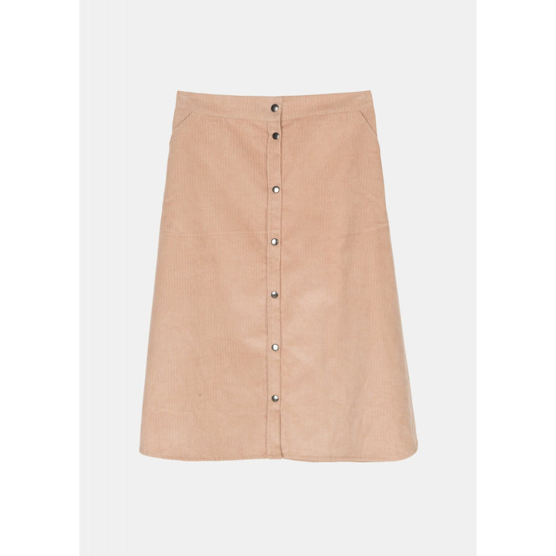a-line corduroy skirt in blush color by Aiayu