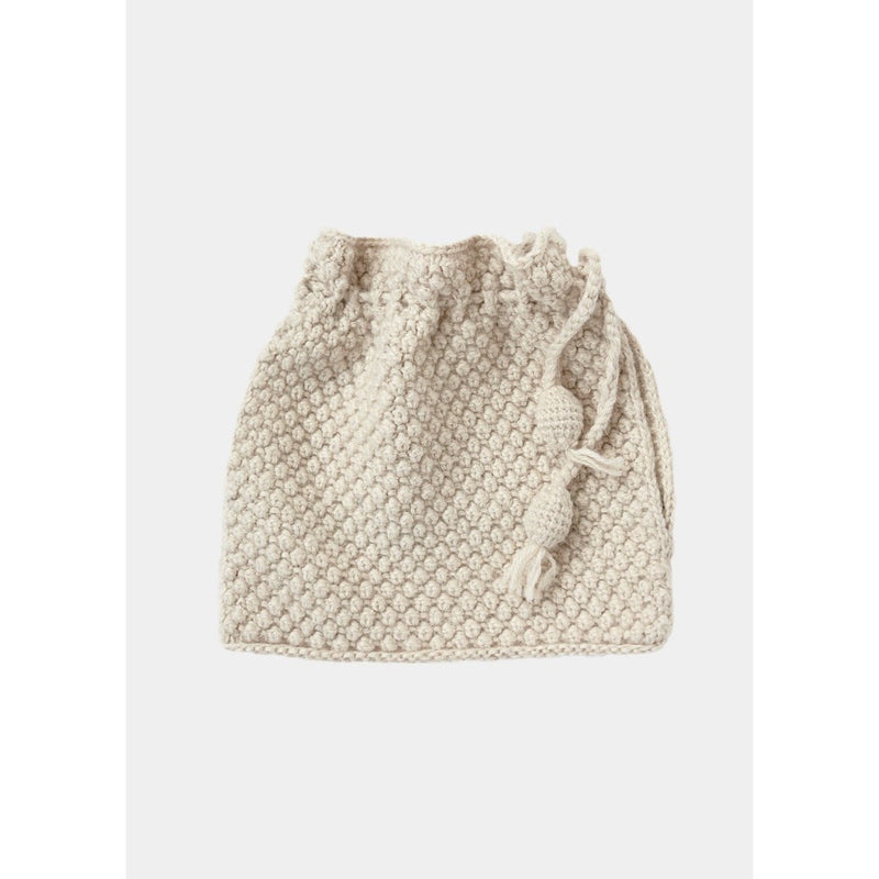 cream knitted tea cosy by designer aiayu