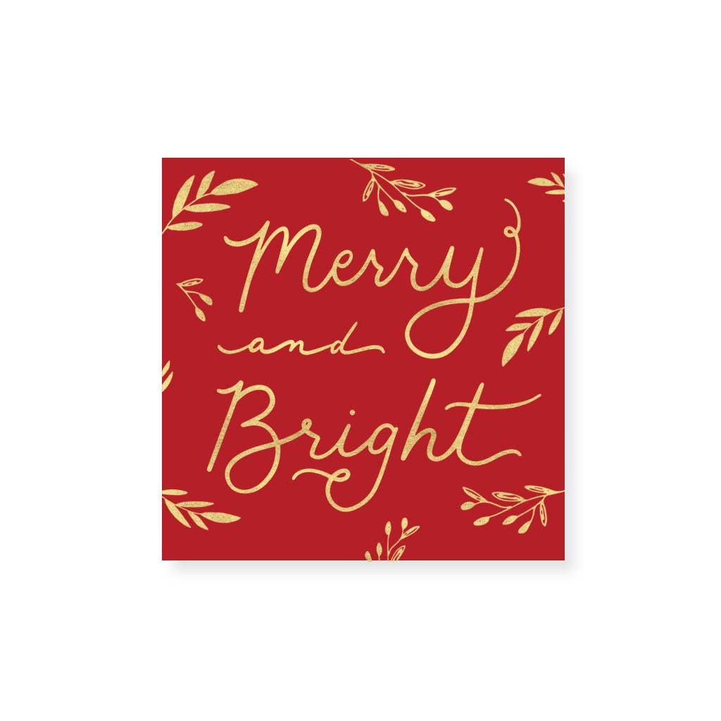 Firebrick Small Match Box: Christmas Holiday Merry & Bright
