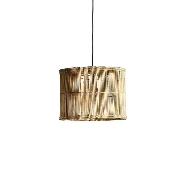 cylindrical rattan lampshade by designer tine k