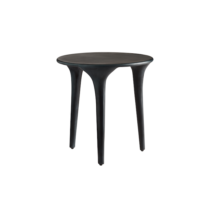 Black Small Recycled Aluminum Table