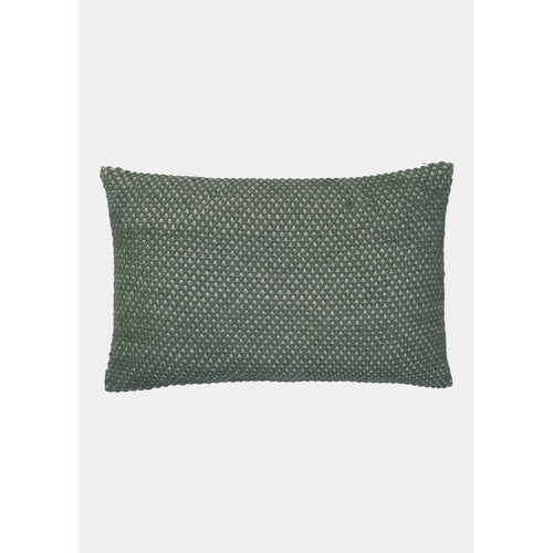 small green pearl-knitted pillow by designer aiayu