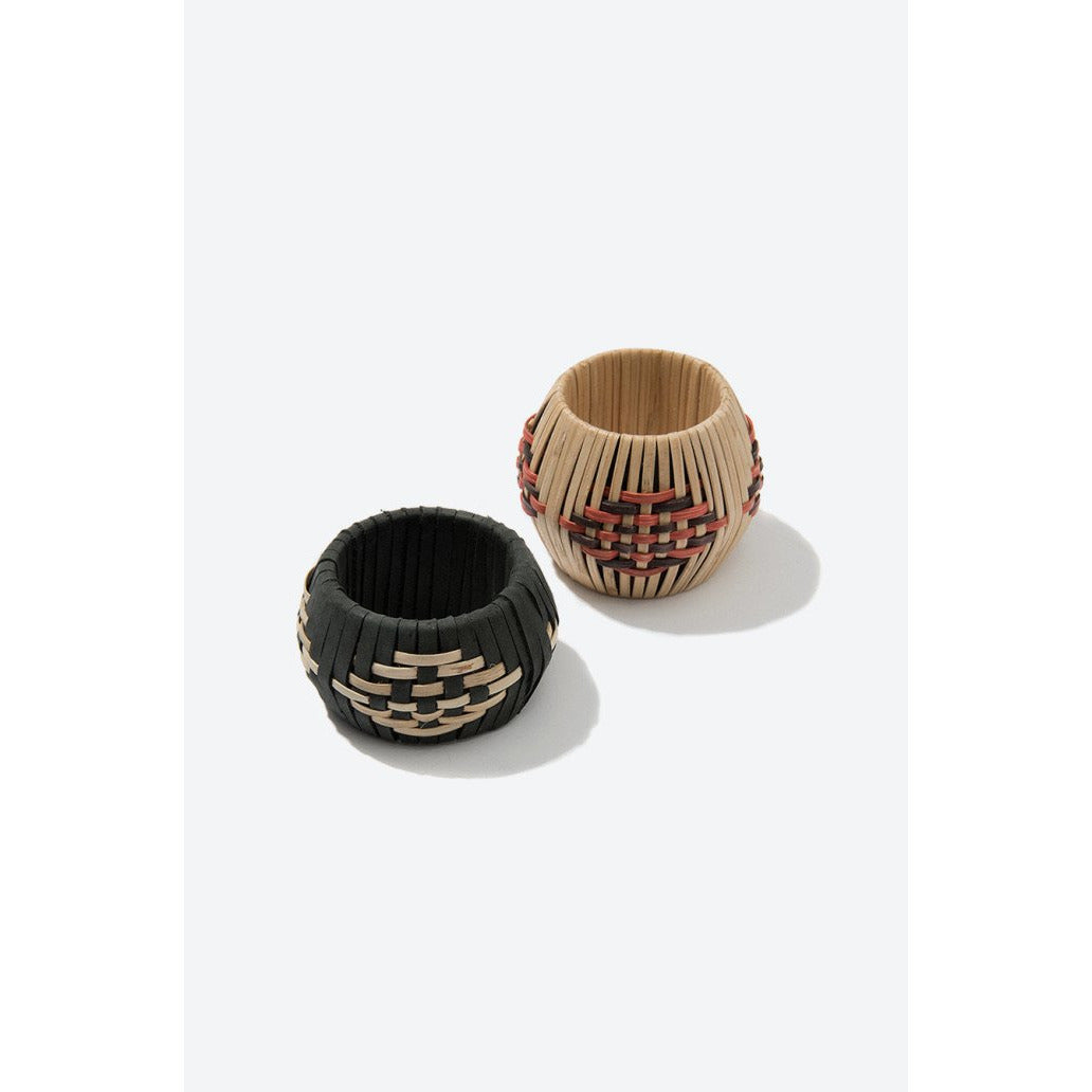 Rosy Brown Bamboo Napkin Ring