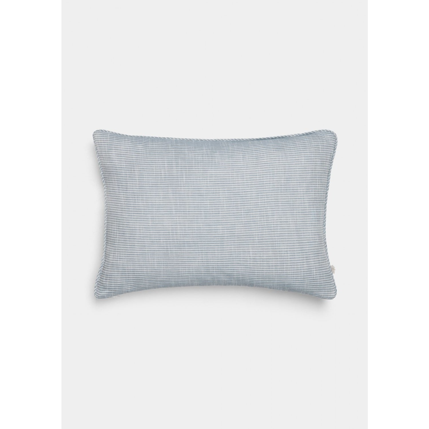 light blue striped pillow by designer aiayu