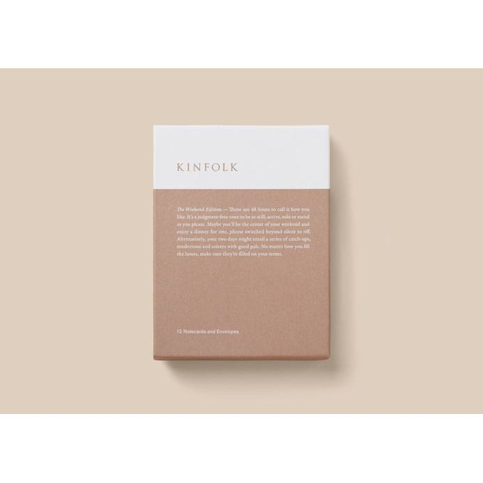 Rosy Brown Kinfolk -- The Weekend Edition Notecards