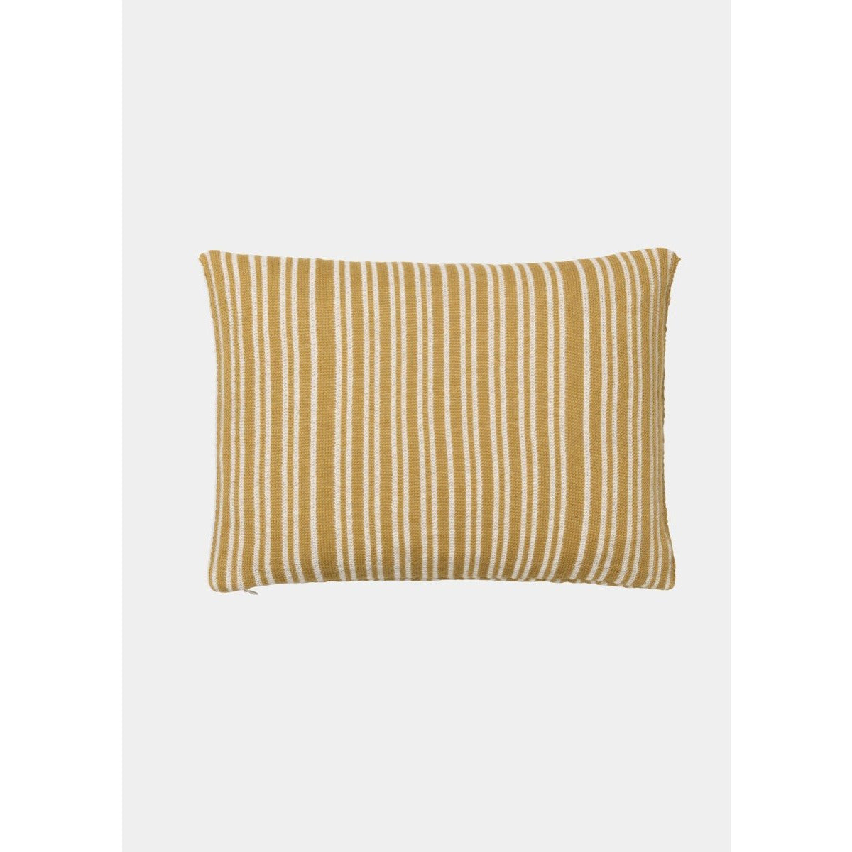yellow and white striped pillow by designer aiayu