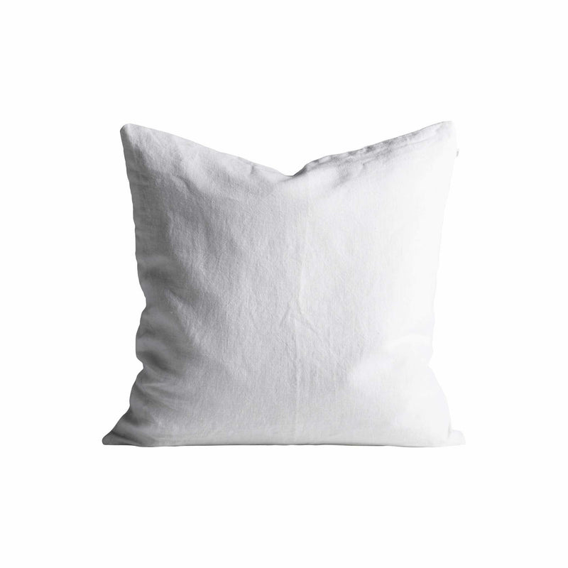 square white linen pillow by designer tine k