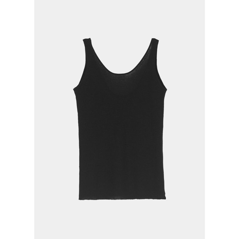 black cashmere tank top by designer aiayu
