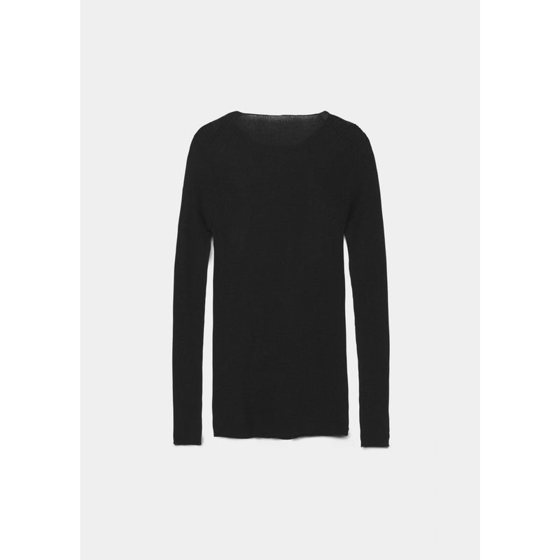 black ribbed cashmere pullover by designer aiayu