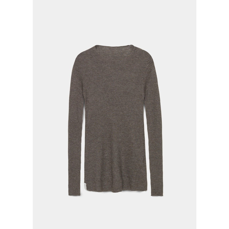 grey ribbed cashmere pullover by designer aiayu