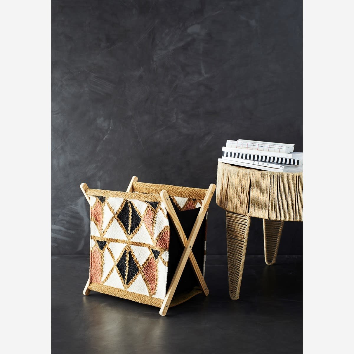 Rosy Brown MS Woven Magazine Holder