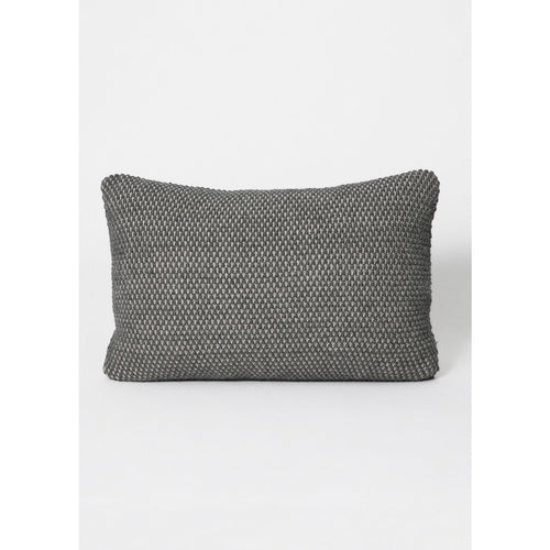 small grey pearl-knitted pillow by designer aiayu