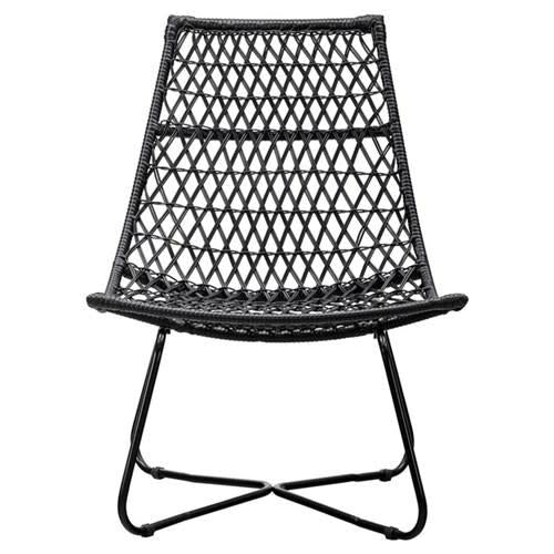 White Smoke Netta Chair- Black