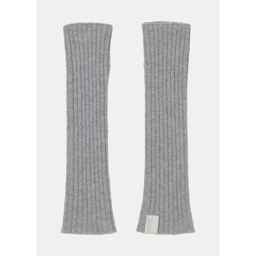 pair of light grey cashmere arm warmers by designer aiayu