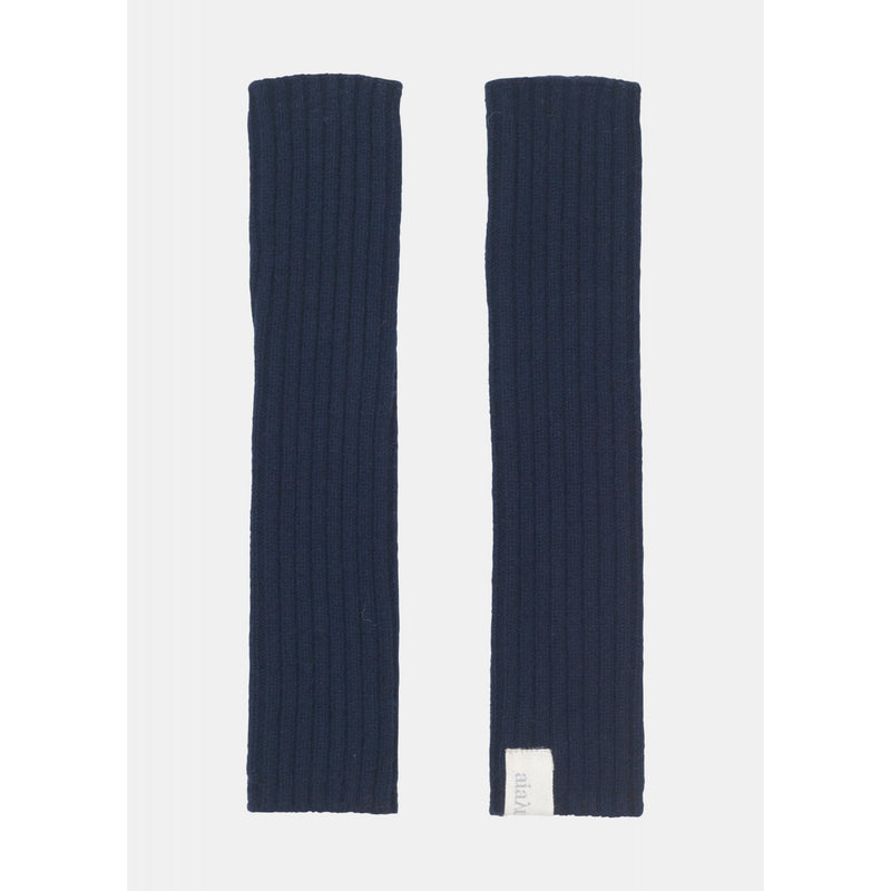 pair of navy cashmere arm warmers by designer aiayu