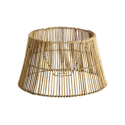 medium classic rattan lampshade by designer tine k