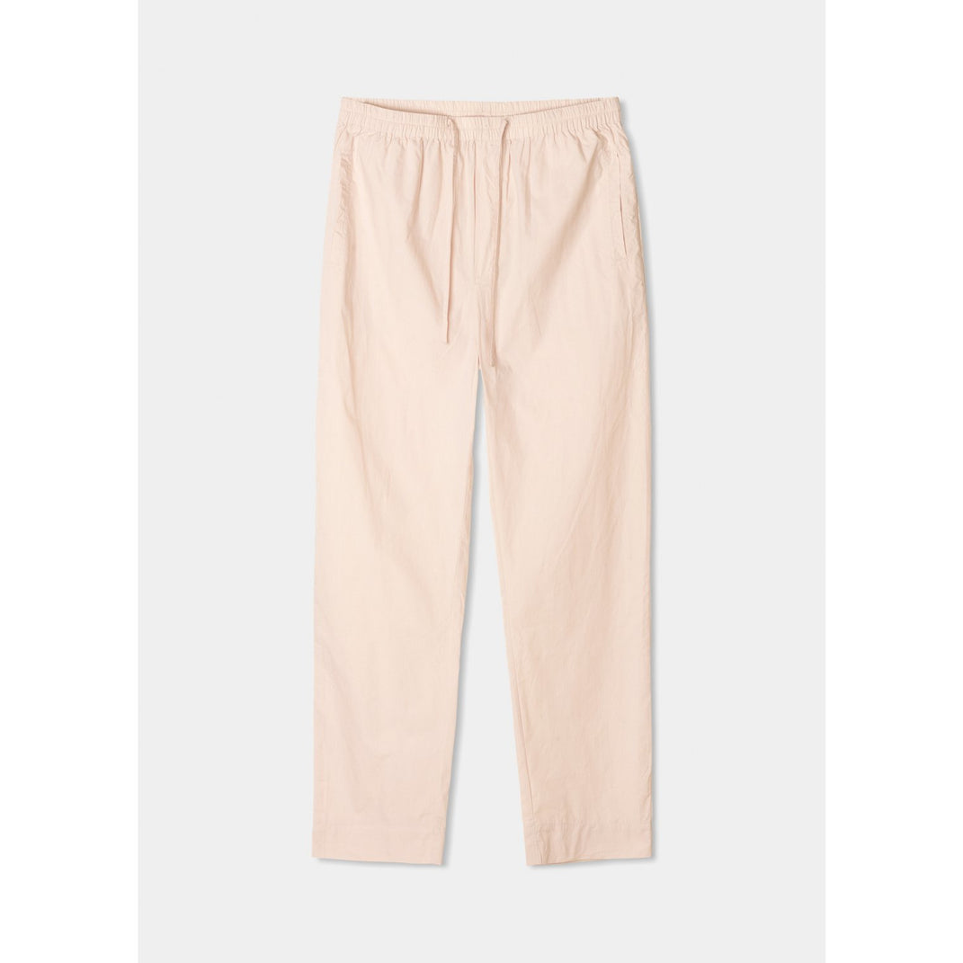 light pink organic cotton pants with drawstring by designer aiayu